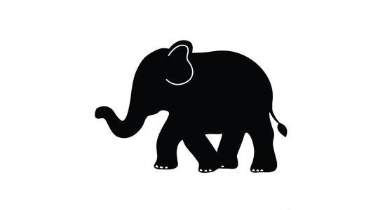 Clipart elephant stencil. Silhouette cricut