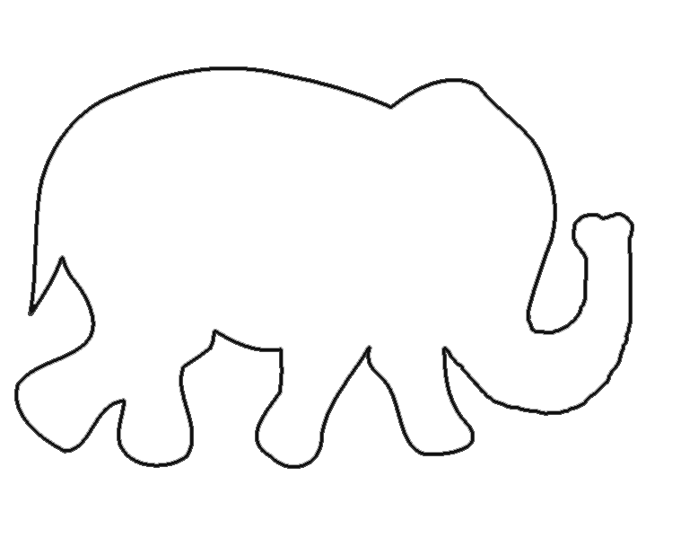 Free templates when i. Clipart elephant stencil