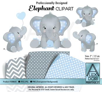 Blue and gray . Clipart elephant teacher