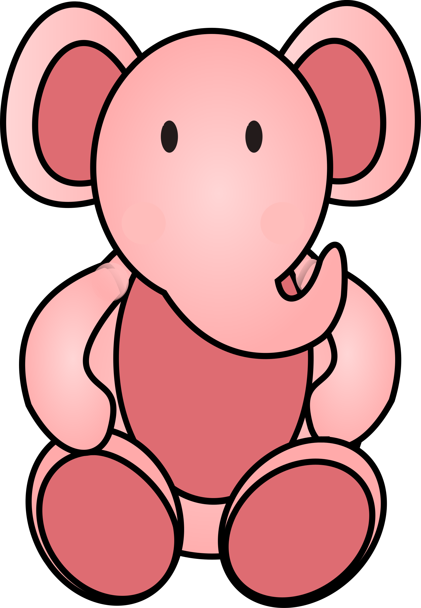 Clipart toys elephant. Pink big image png