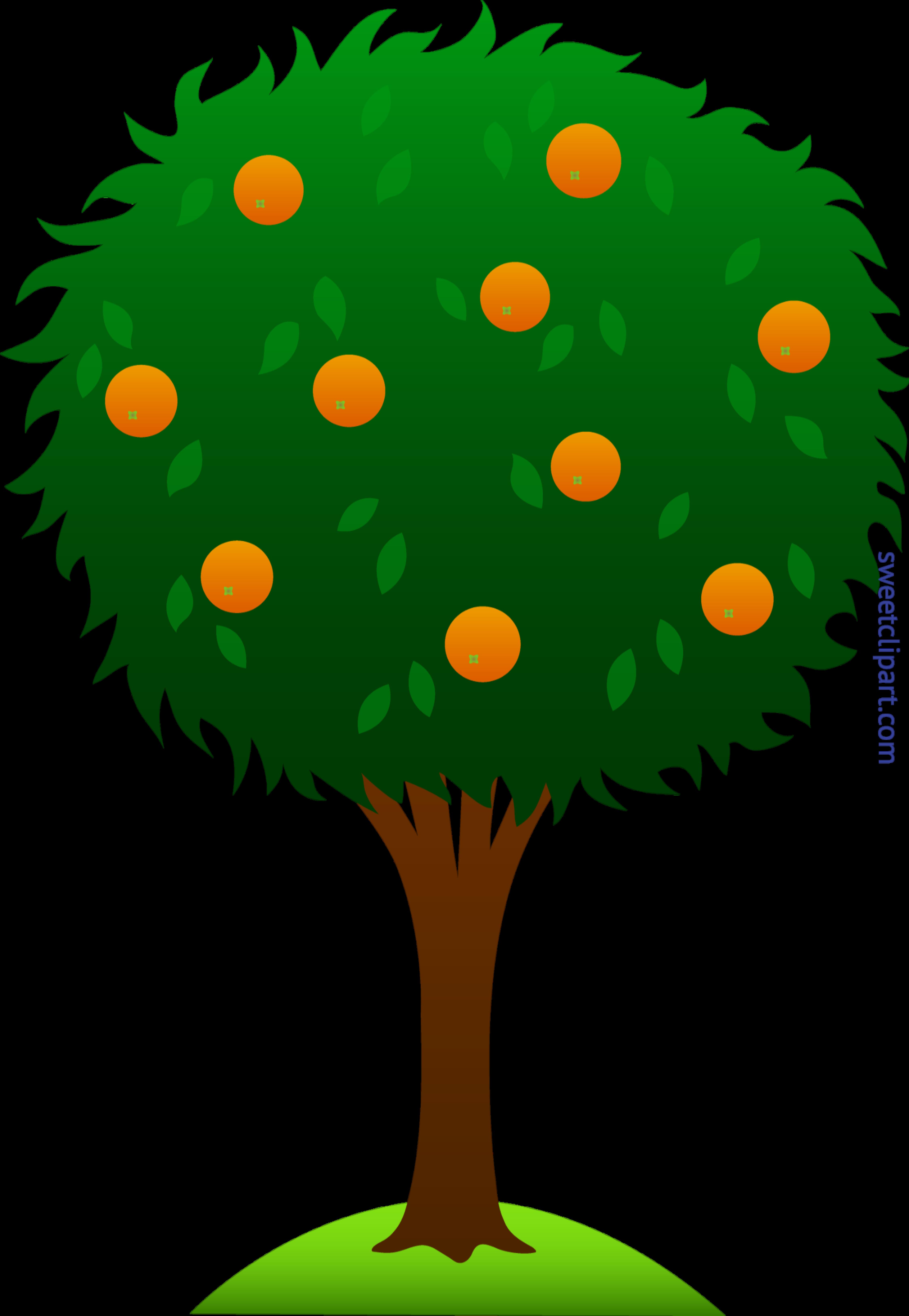 Tree clipart science. Orange clip art sweet