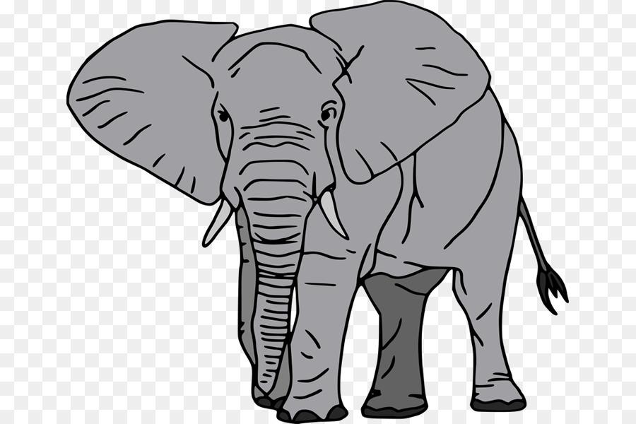 African transparent clip art. Elephant clipart tree