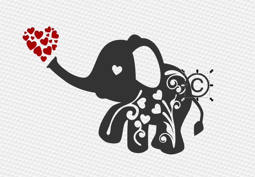 Clipart elephant valentines day. Flourish