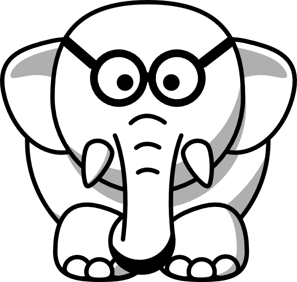 Glasses clipart line art. Elephant in clip at