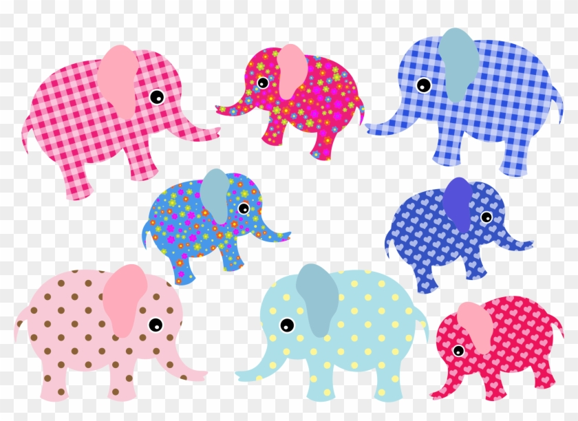 Colorful cute . Clipart elephant wallpaper