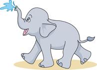 Free elephant clip art. Elephants clipart water