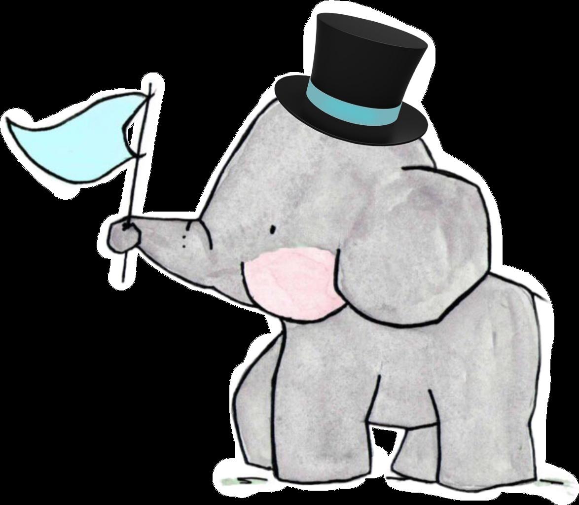 Family tophat groom. Clipart elephant wedding