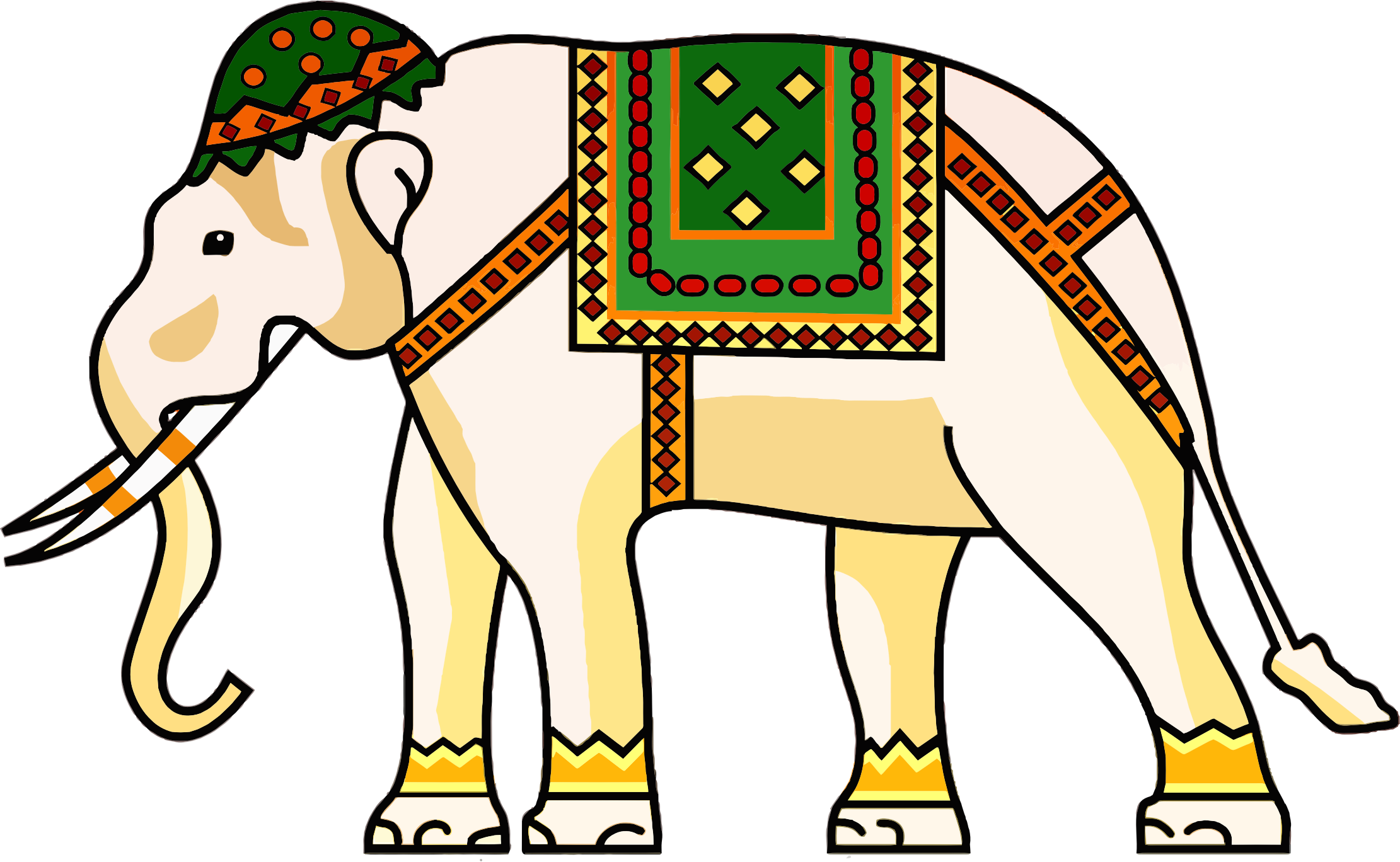 Clipart elephant wedding.  collection of decorated