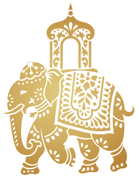 Decorative indian transparent clip. Clipart elephant wedding