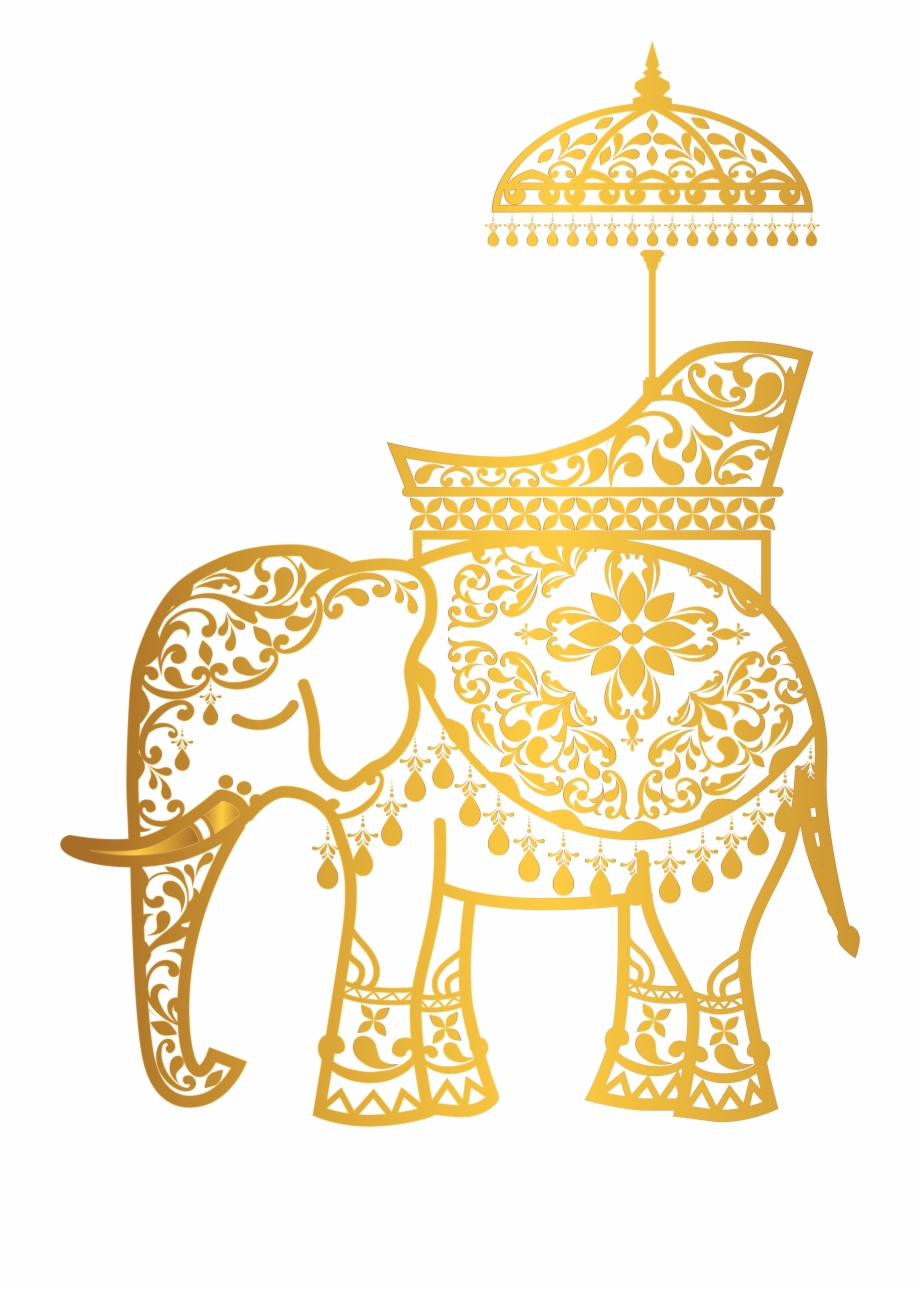 Clipart elephant wedding. Clip library download gold