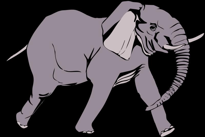 Clipart elephant wild animal. Architetto elefante in corsa