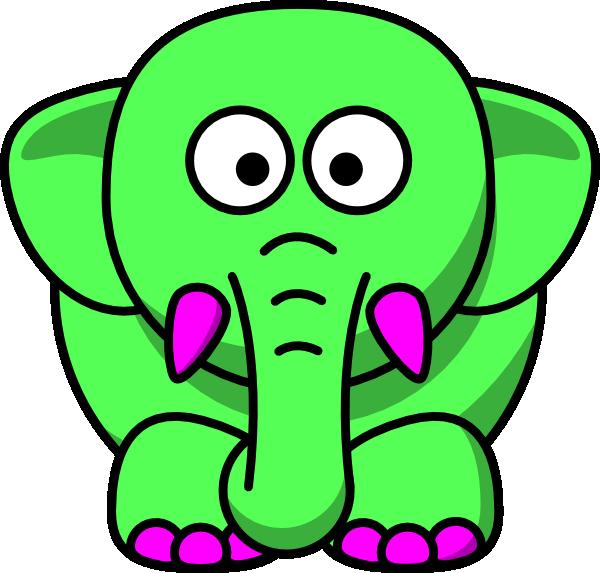 Clip art at clker. Elephant clipart mint