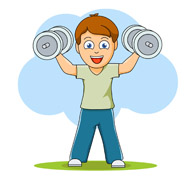 Exercise clip art free. Exercising clipart
