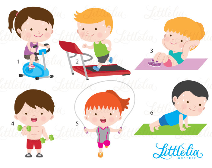 Boys clipart exercise. Gym health from this