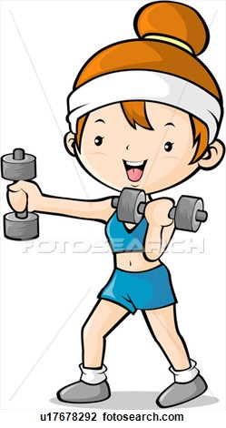 Exercising clipart. Exercise hand weights