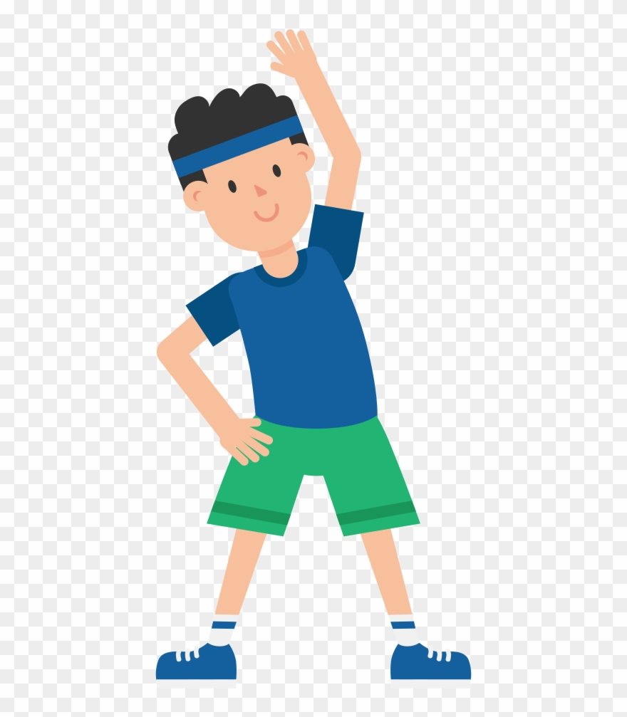 Exercise clipart execise. Exercising man cartoon png