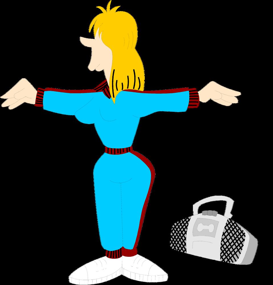 Exercise clipart aerobic. Woman free stock photo