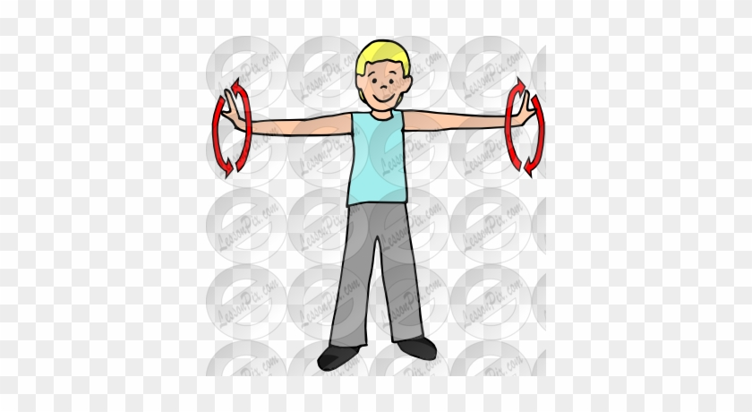 Arms picture circles exercise. Exercising clipart arm circle