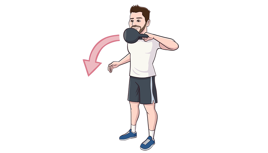 Exercising clipart arm circle. Kettlebell punch swing central