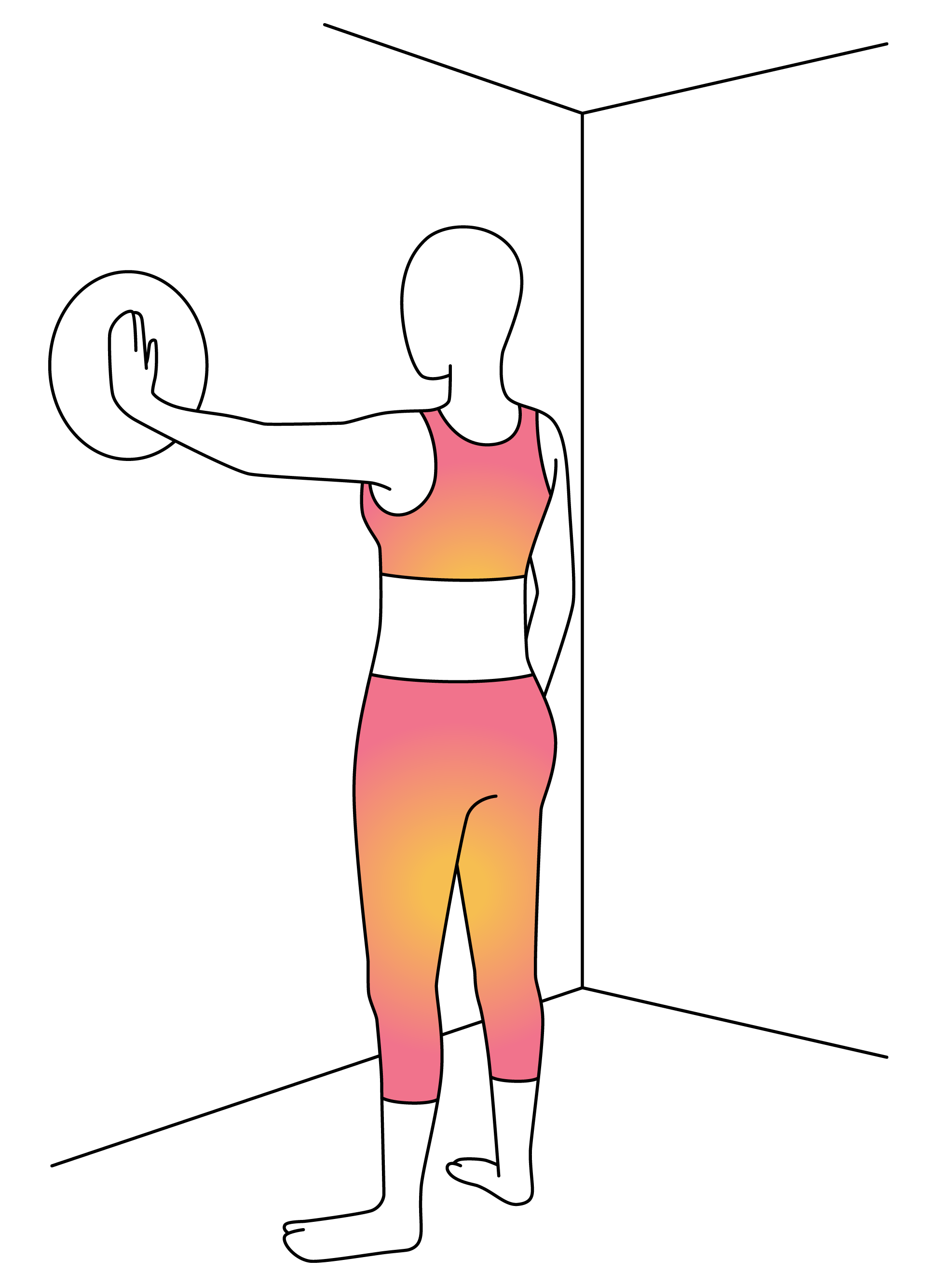 Exercising clipart arm circle. Physera physical therapy workouts