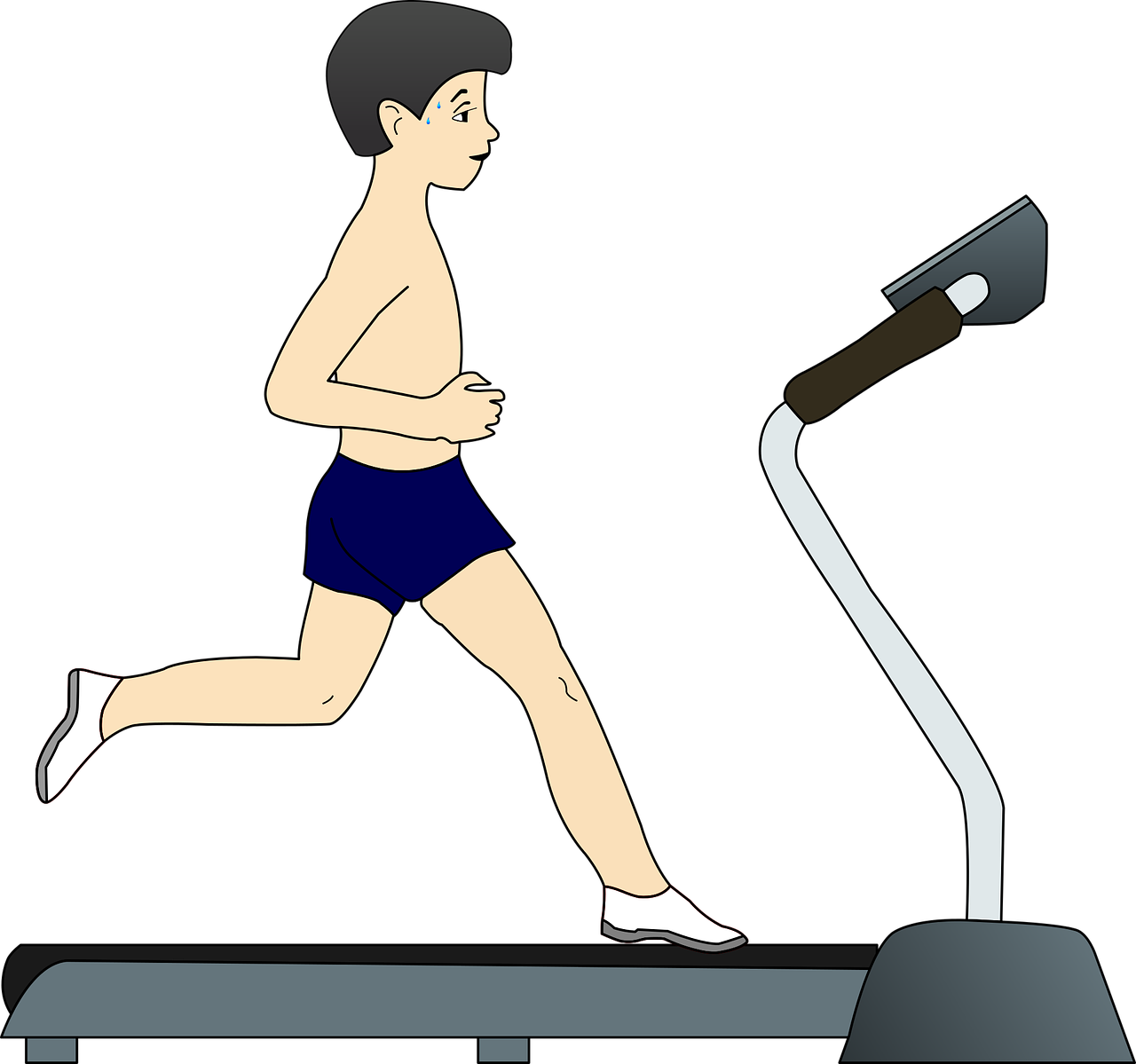 Exercise clipart strong.  killer treadmill running