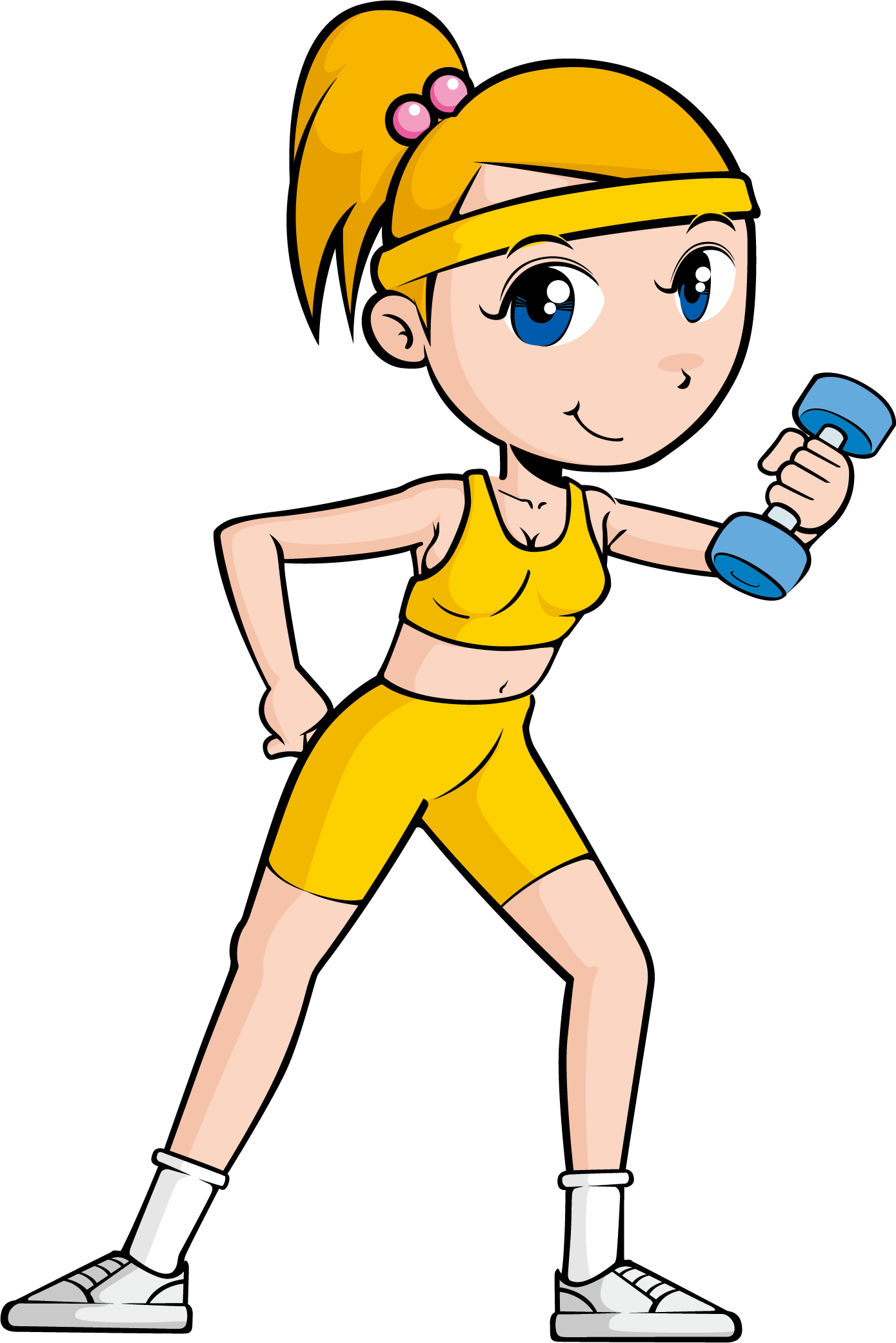 Gym clipart physical fitness. Exercise cartoon clip art