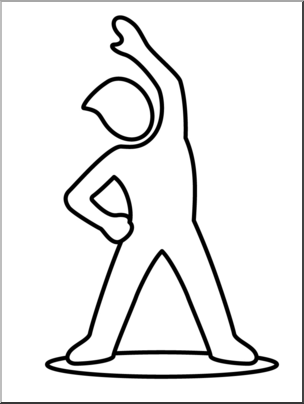 Exercise clipart line art. Clip simple bend and