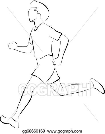 Clipart exercise basic exercise. Stock illustration jogging is