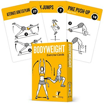 Exercise clipart fitness program. Cards bodyweight home gym