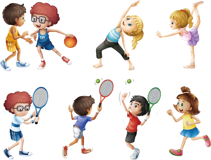 Sport royalty free physical. Exercise clipart childrens