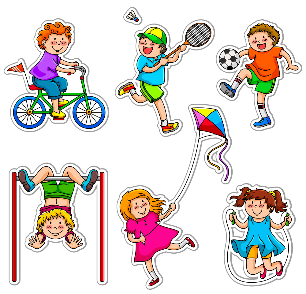 Exercising clipart childrens. Physical exercise child fitness