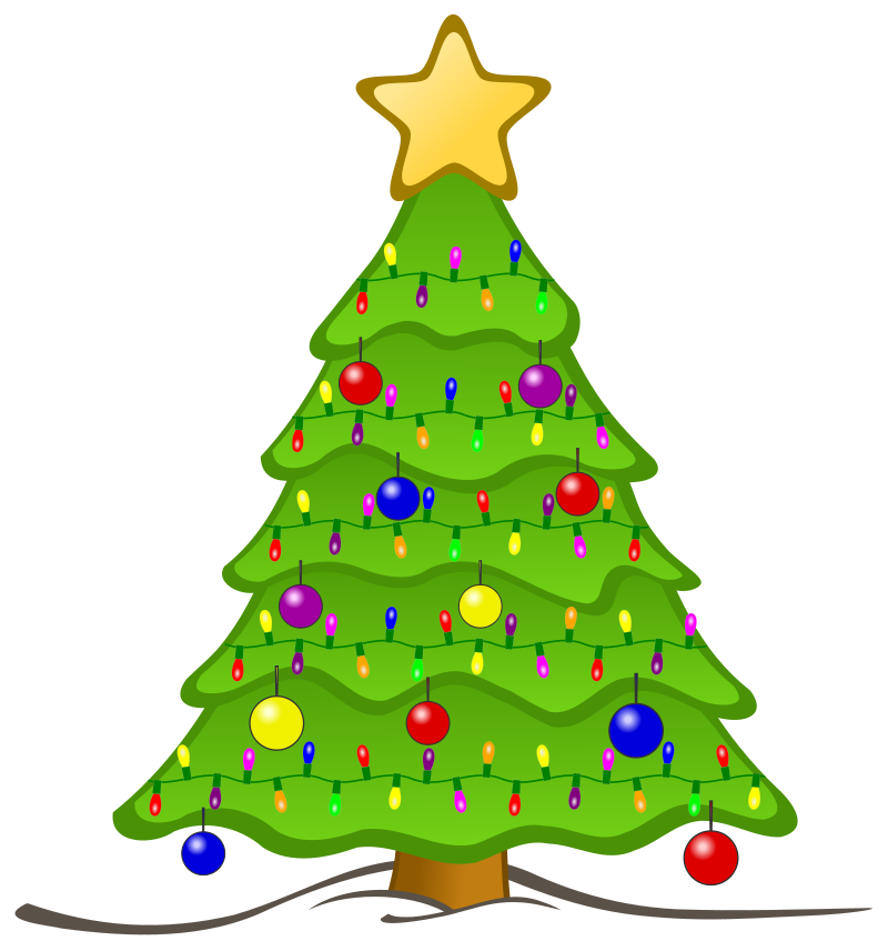 Christmas lights . Clipart tree pencil