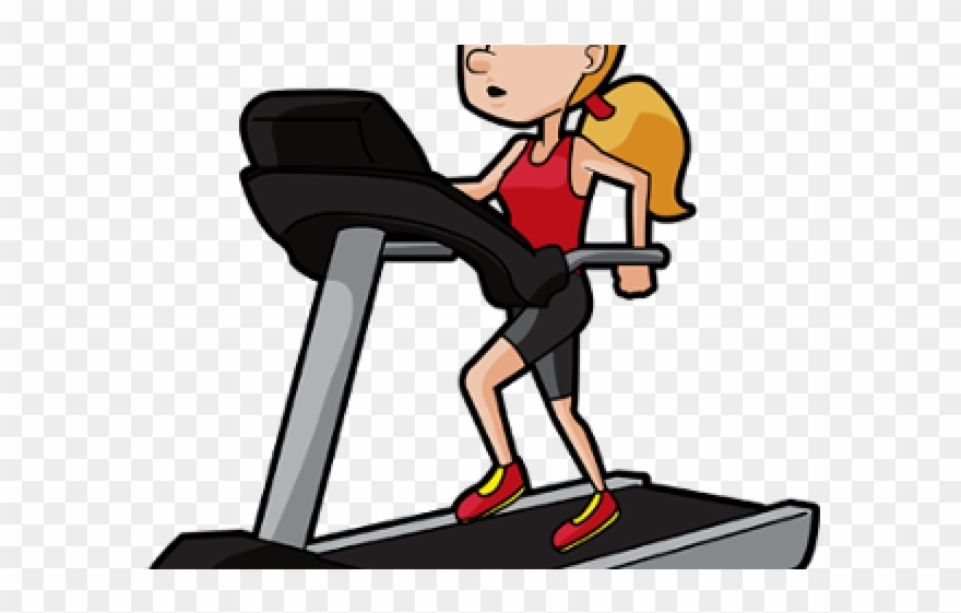 Clipart exercise daily exercise. Bench woman treadmill