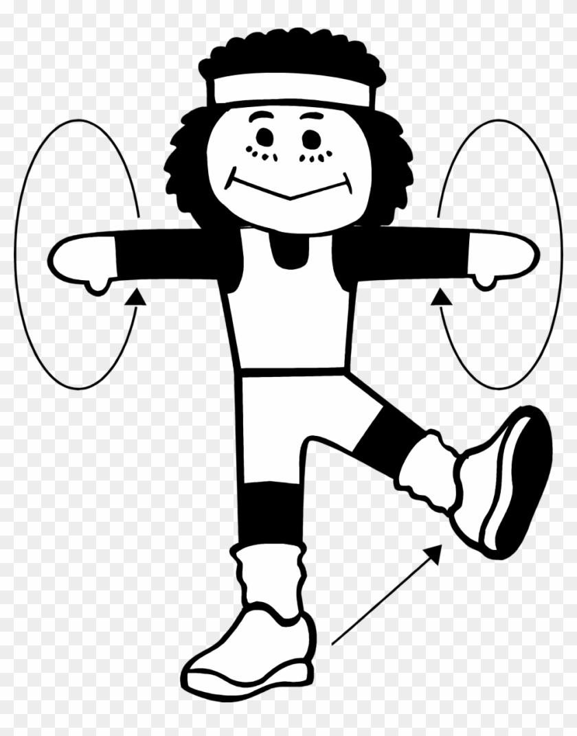 Exercising clipart drawing. Png black and white