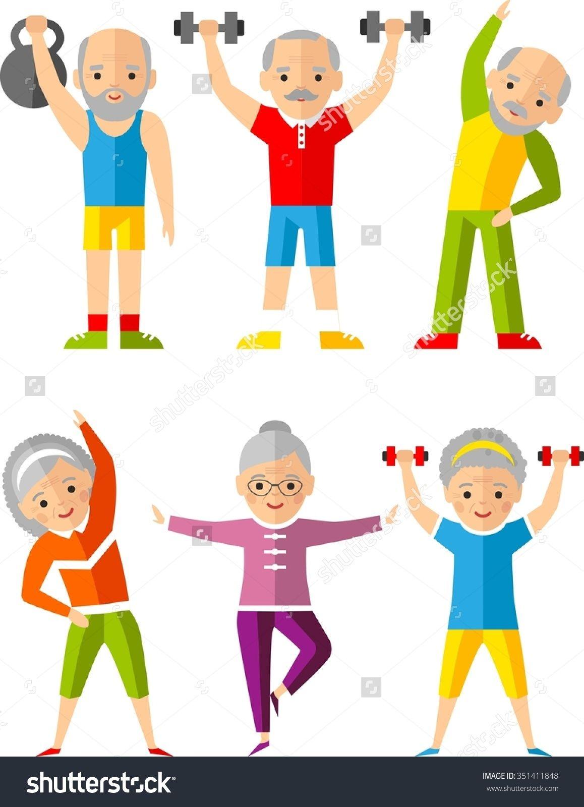 Exercising clipart elderly. Image result for free