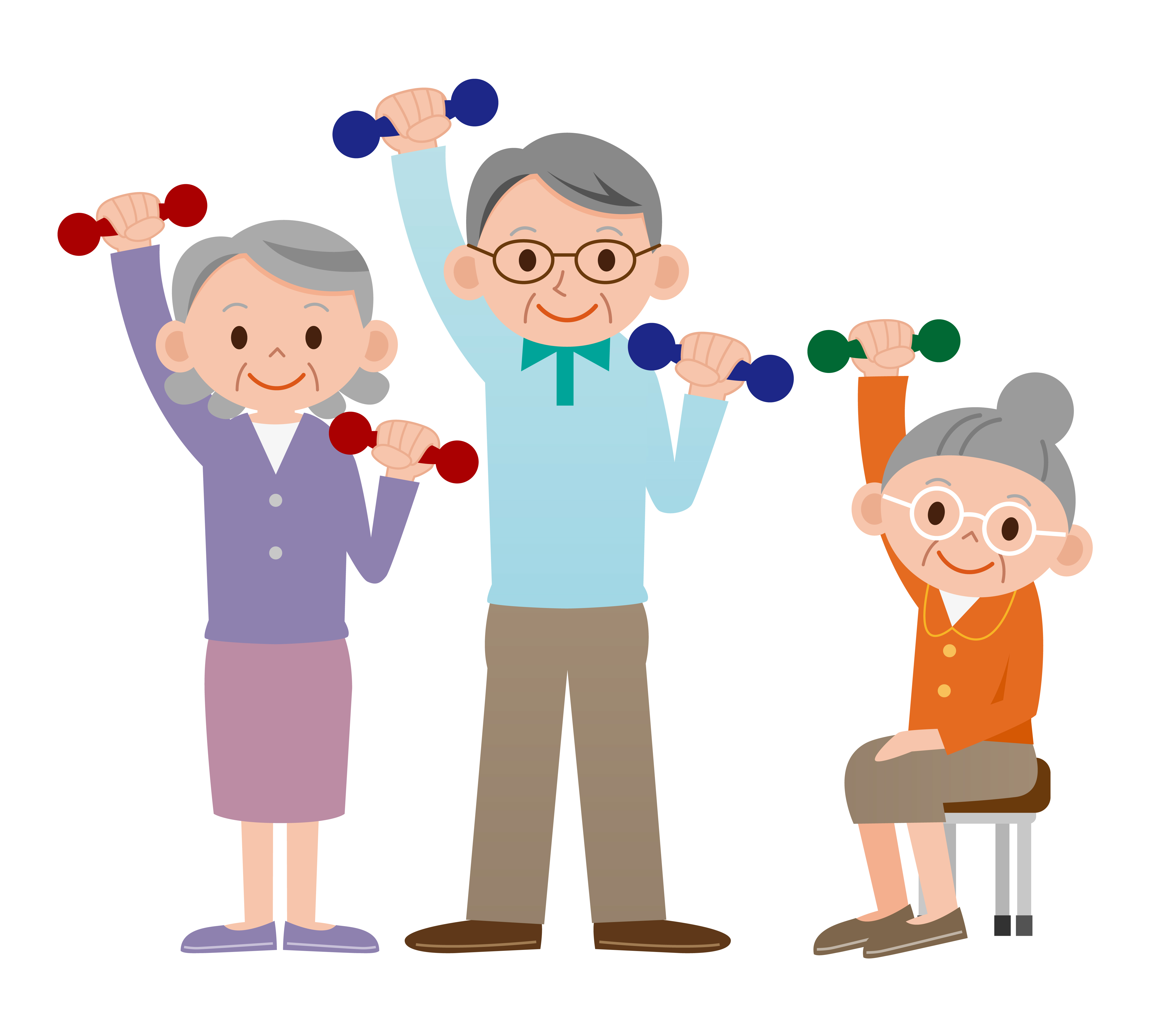 Free older adult cliparts. Exercise clipart elderly