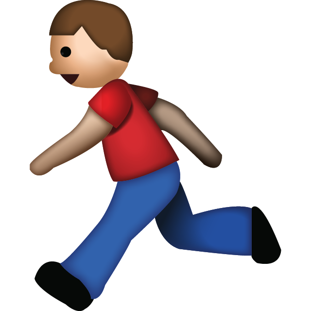 Download man running emoji. Animate png files