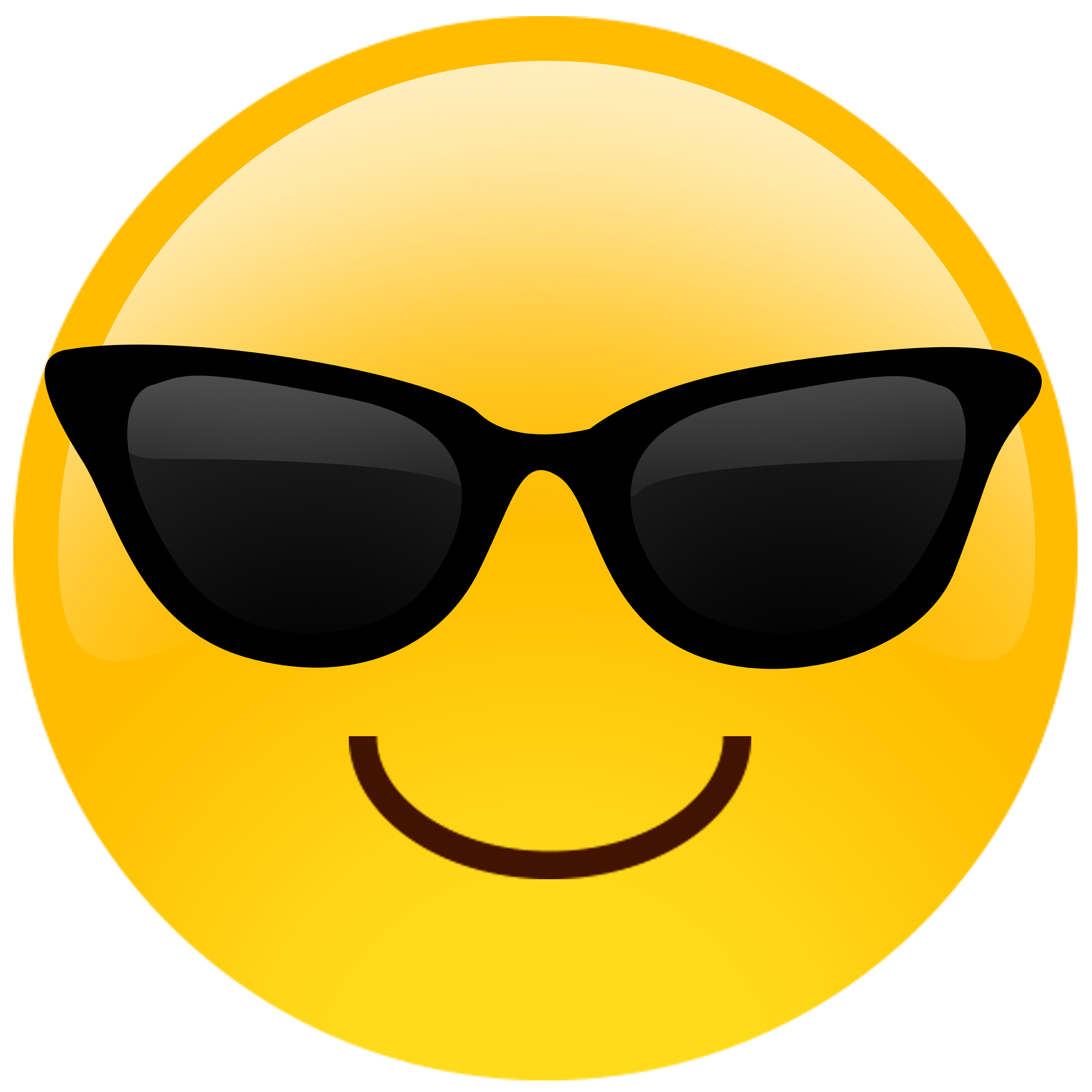 Emoji cutouts pinterest big. Monkey clipart sunglasses