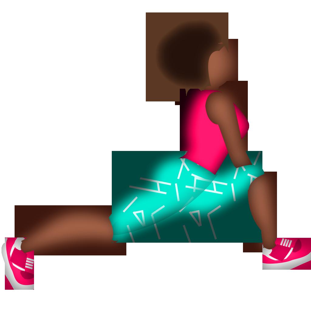 Emoji clipart exercise. Marathon running afro runner