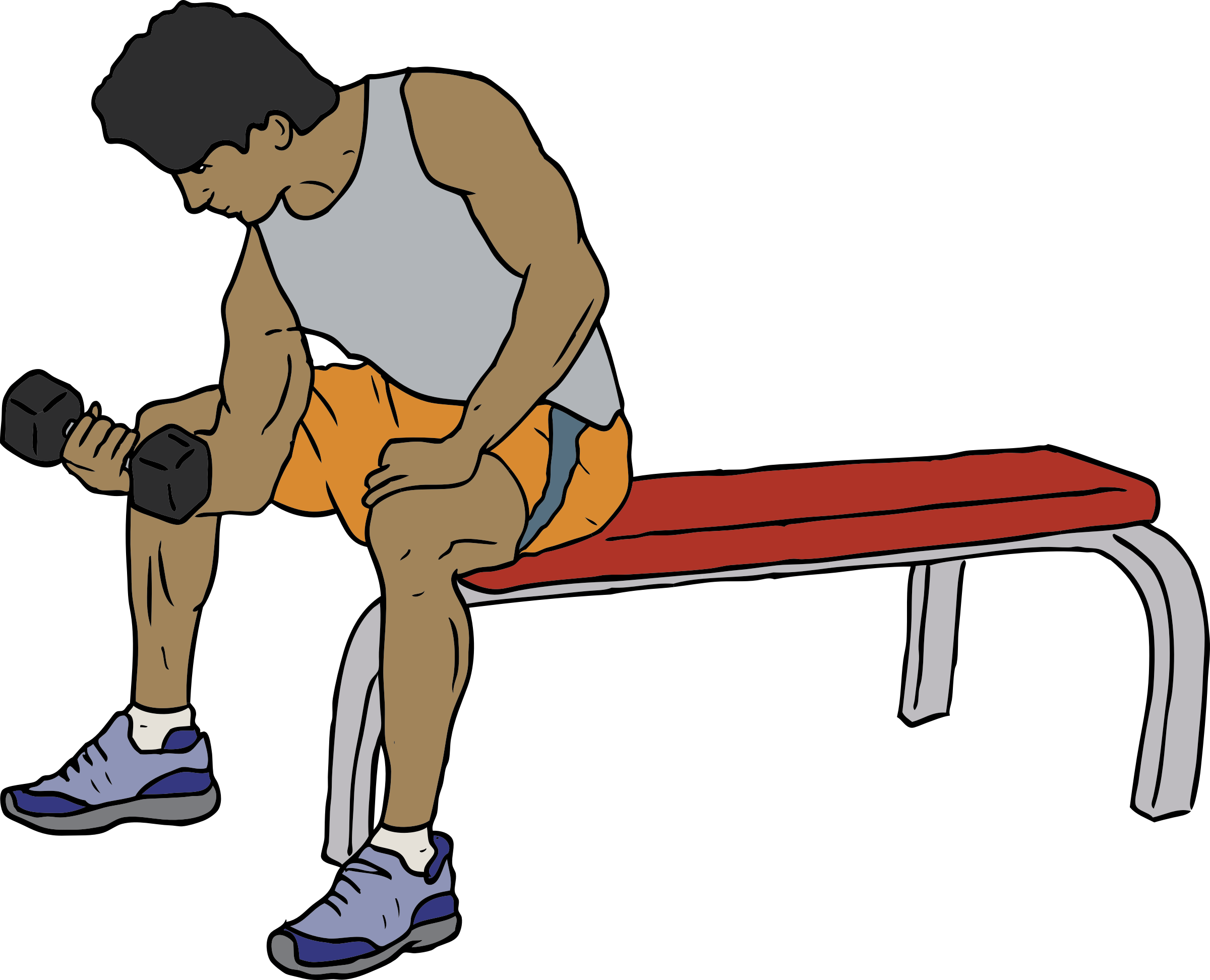 Exercise clipart exercise man. Dumbell lifter big image