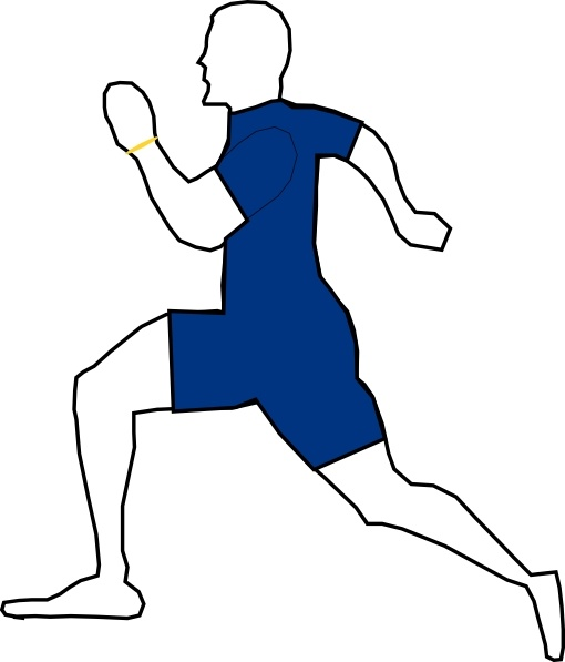 Jogging clip art free. Exercise clipart exercise man