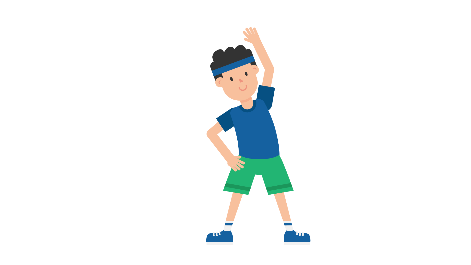 Exercising clipart exercise man. File doing warm up