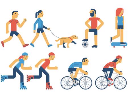Clipart exercise exercise routine. It s never too