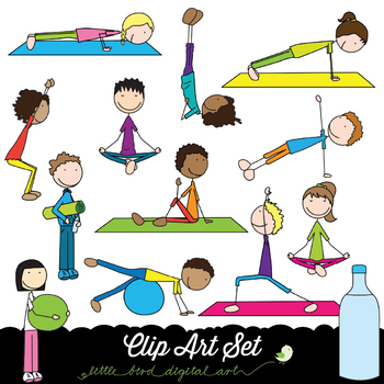 Exercise clipart exercise time. Happy kids clip art