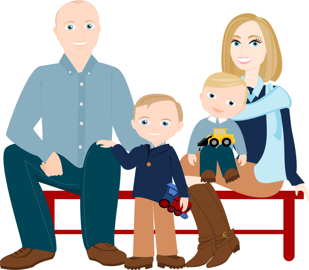 Young clipart family five. Drawing cartoon at getdrawings