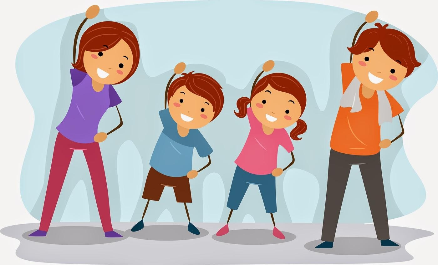 Awesome best fitness . Exercise clipart family