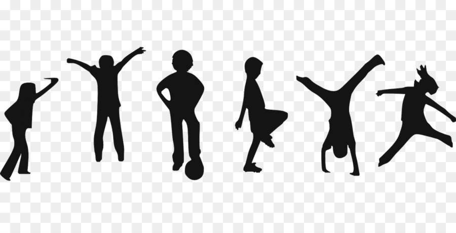 Fitness child silhouette . Exercising clipart exercise cartoon