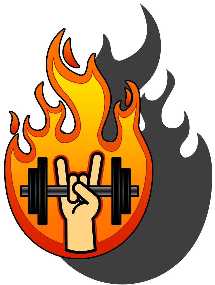 Heavy metal personal in. Exercise clipart fitness training