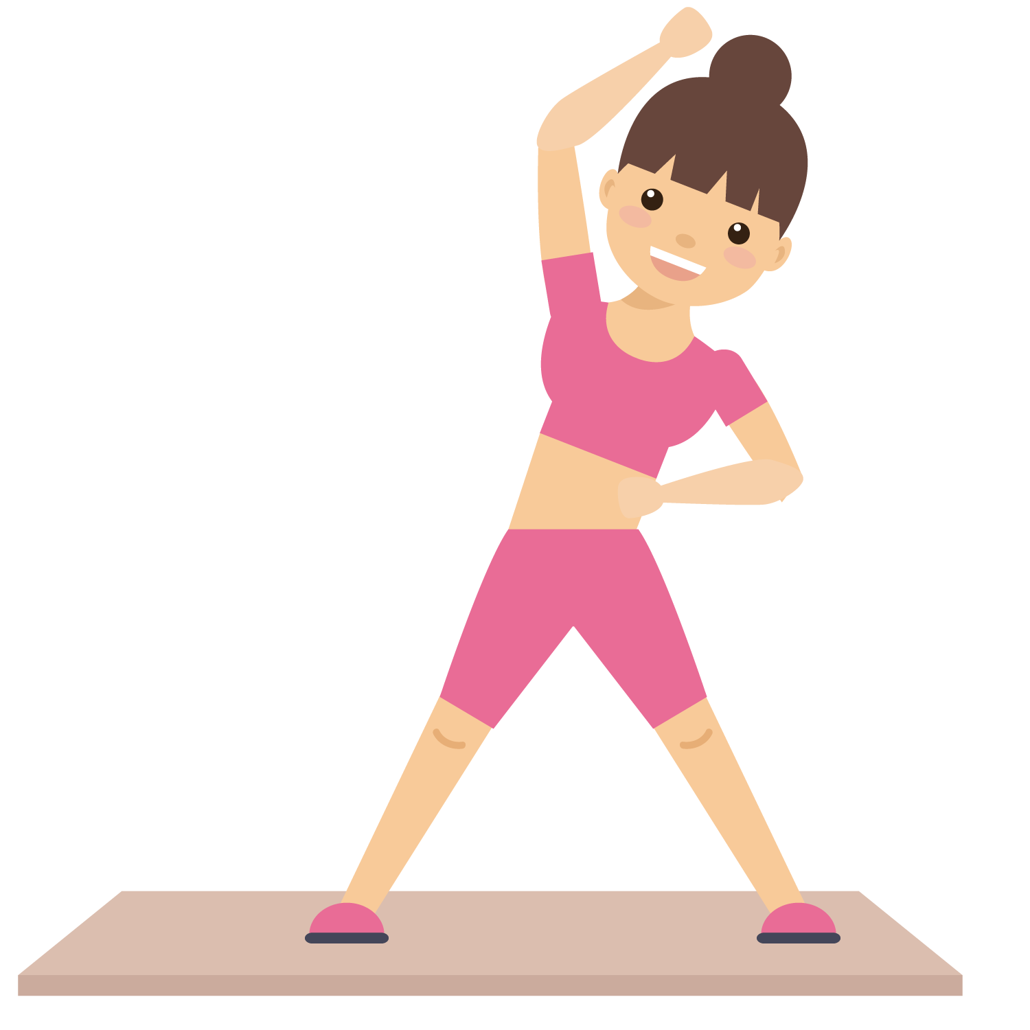 Physical fitness clip art. Clipart exercise girl exercise