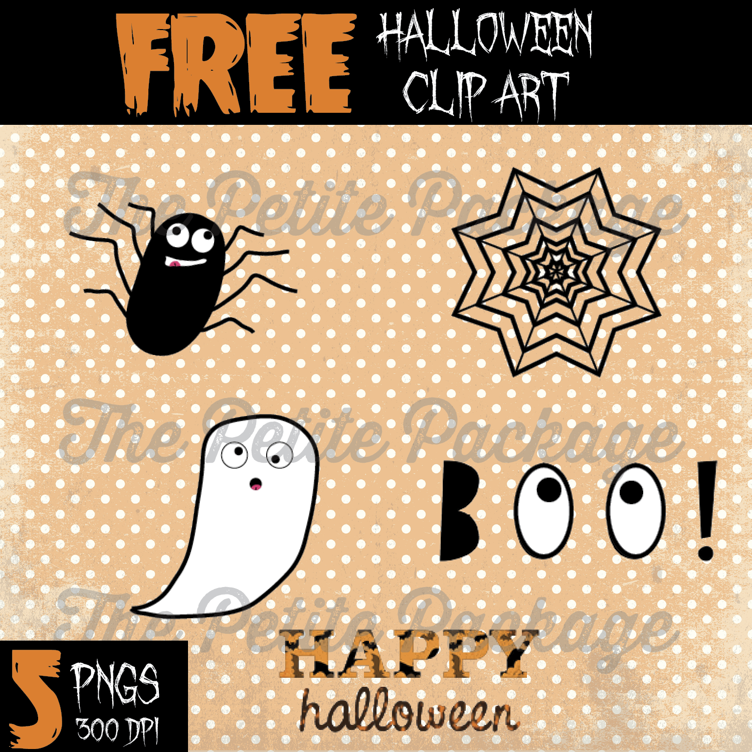 Clipart halloween monogram. Freebie friday downloadable clip
